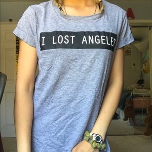 grey los angeles i lost angeles Cotton On tee